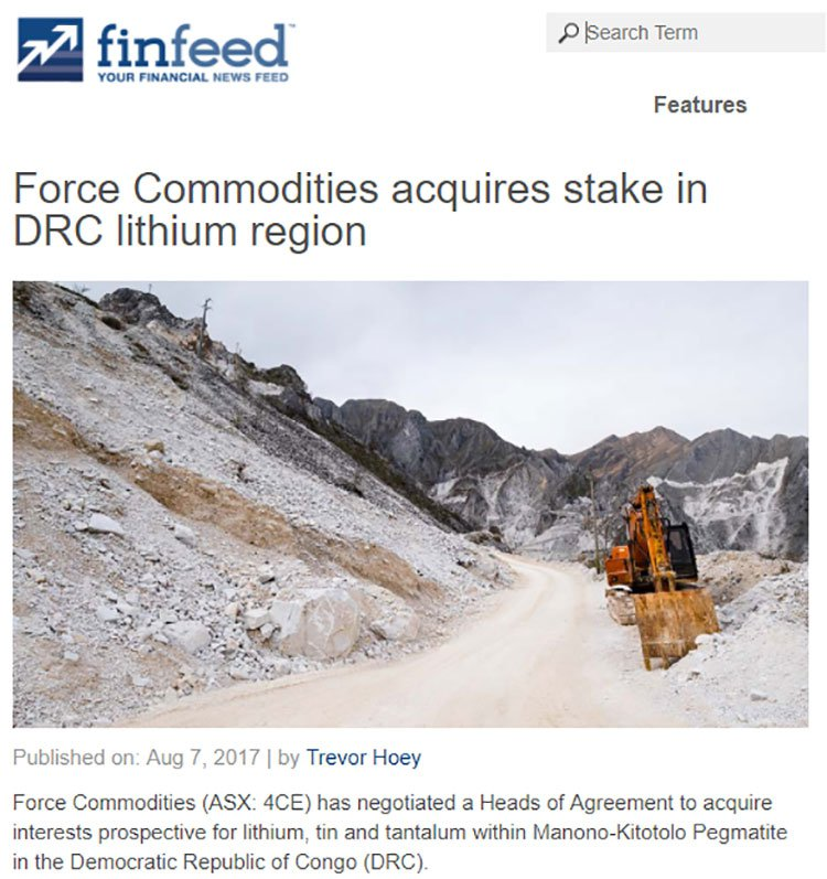 Force commodities finfeed