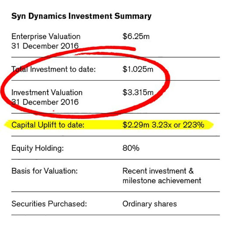 syn dynamics investment summary