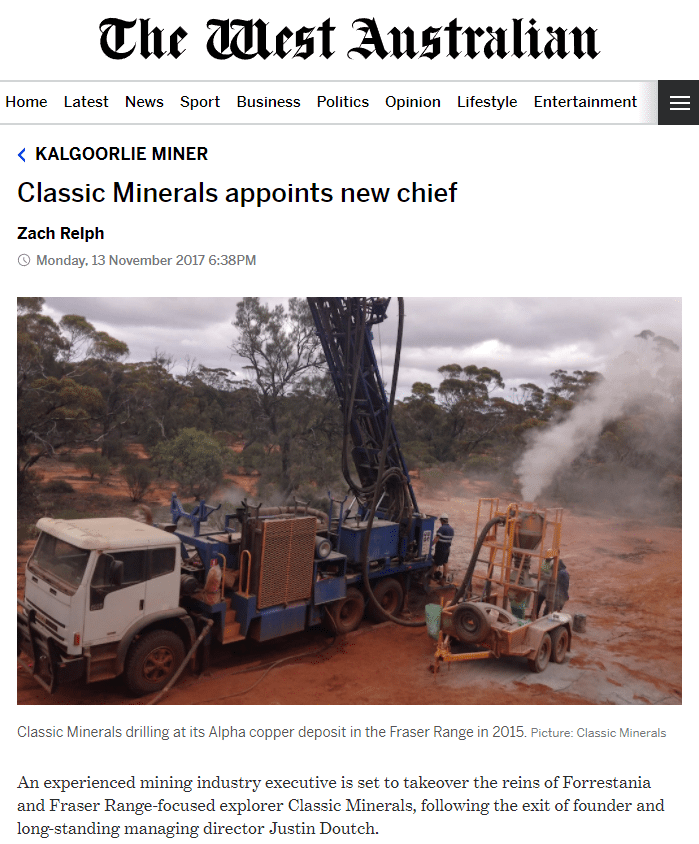 The west australian classic minerals