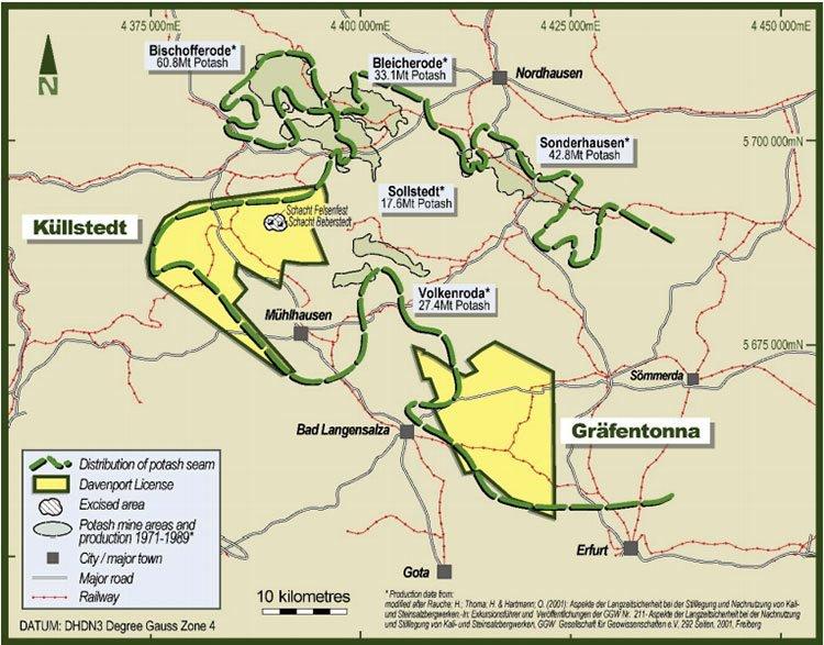 DAV existing exploration licences