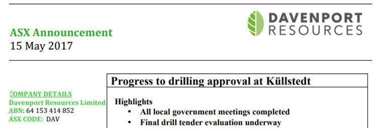 Kullstedt drilling approval