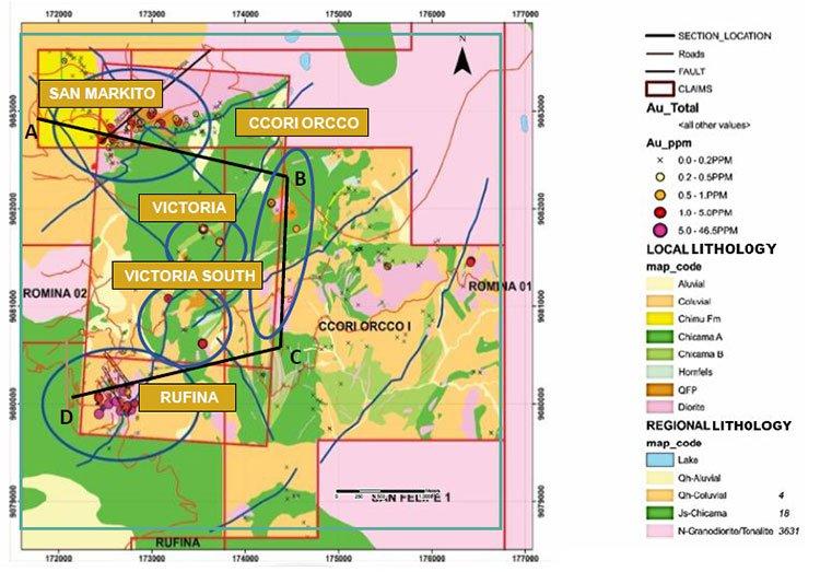 La Victoria project map