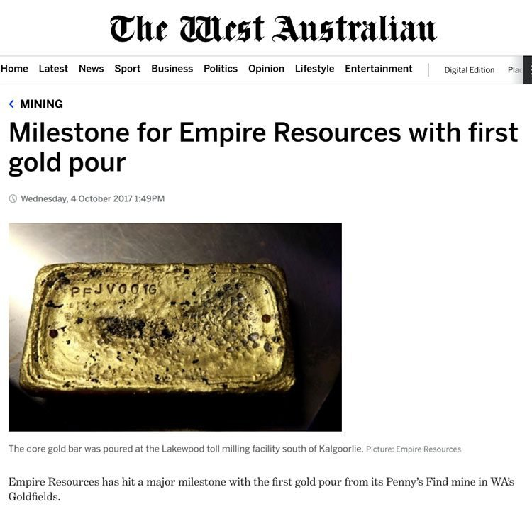 empire resources gold find