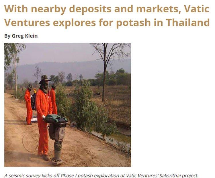 Potash mining Thailand