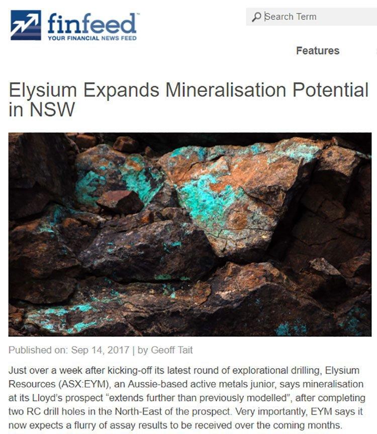 Elysium mineralisation