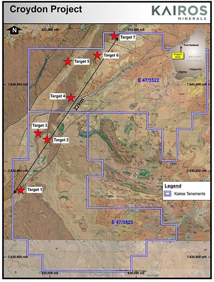 kairos minerals croydon project