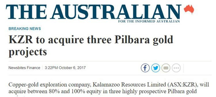 Kalamazoo pilbara projects
