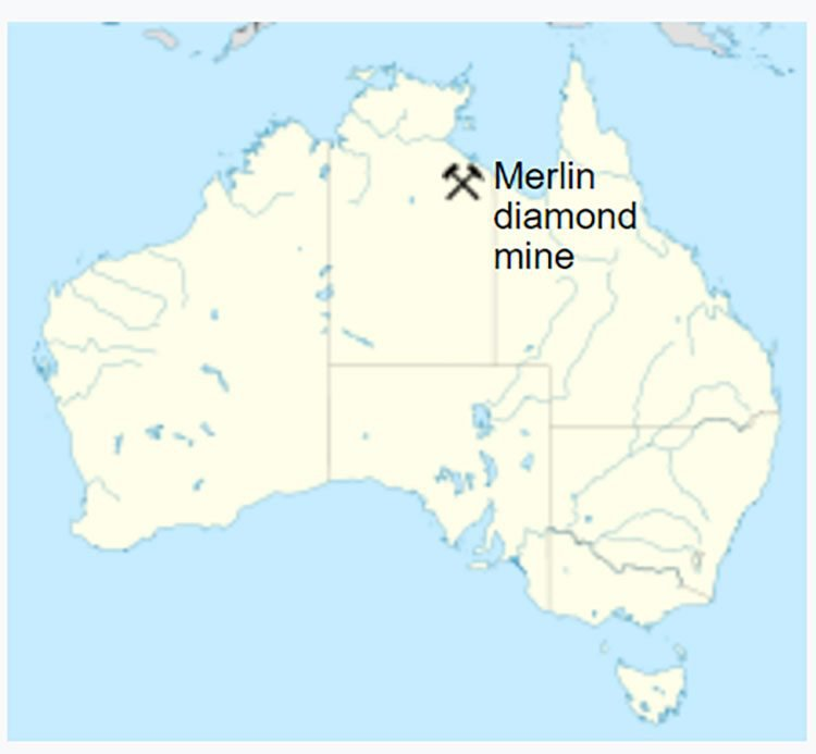 merlin kimberlite diamond field
