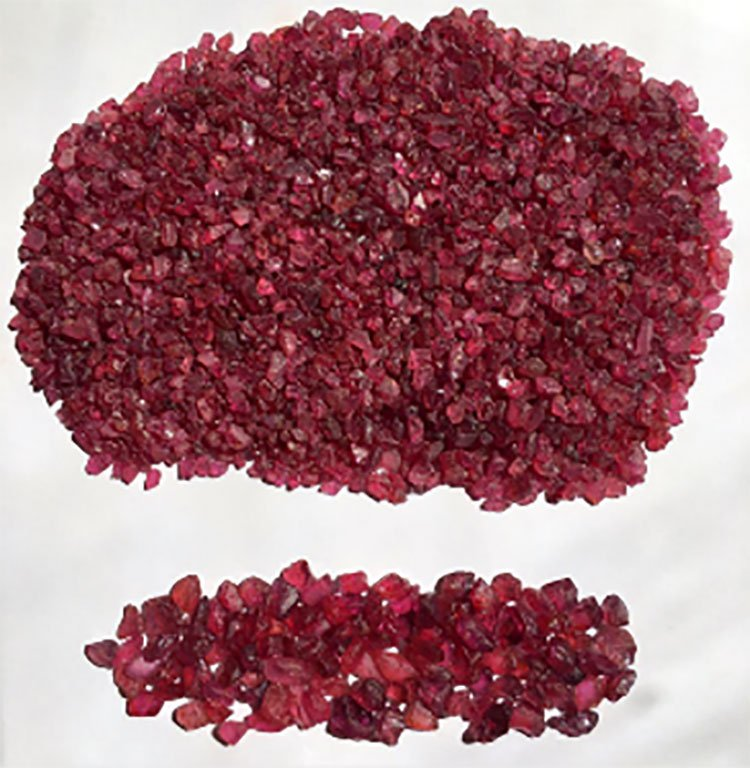 Rubies sell for roughly US$317 per carat