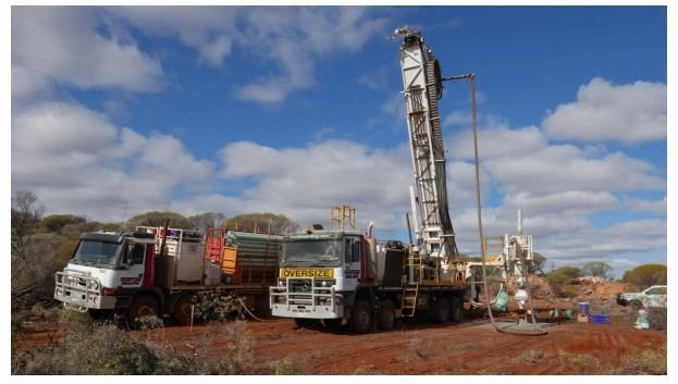 RC percussion drilling operations at the Manindi Lithium Project