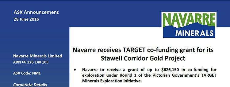 Navarre minerals Victorian government