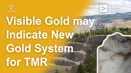 """TMR intersects unexpected visible gold - """"accidentally"""" discovers potential new gold vein"""