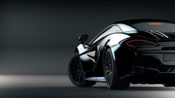 Futuristic sports car (with grunge overlay) concept, brandless –