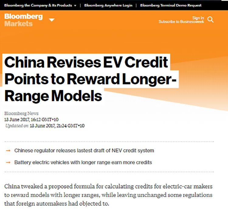 China is re-assessing its electric car policies