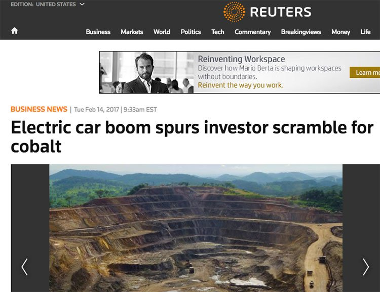 Cobalt in high demand due to electric cars