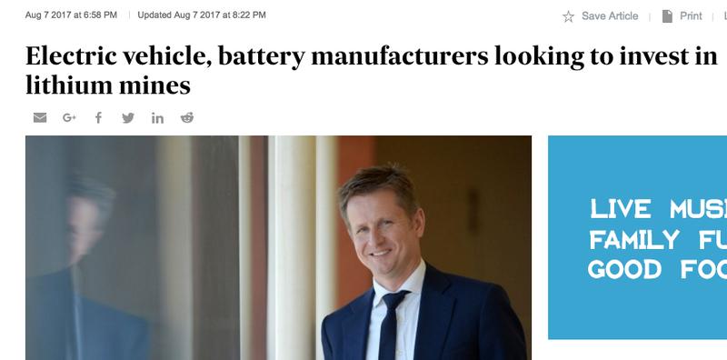 Manufacturers invest lithium