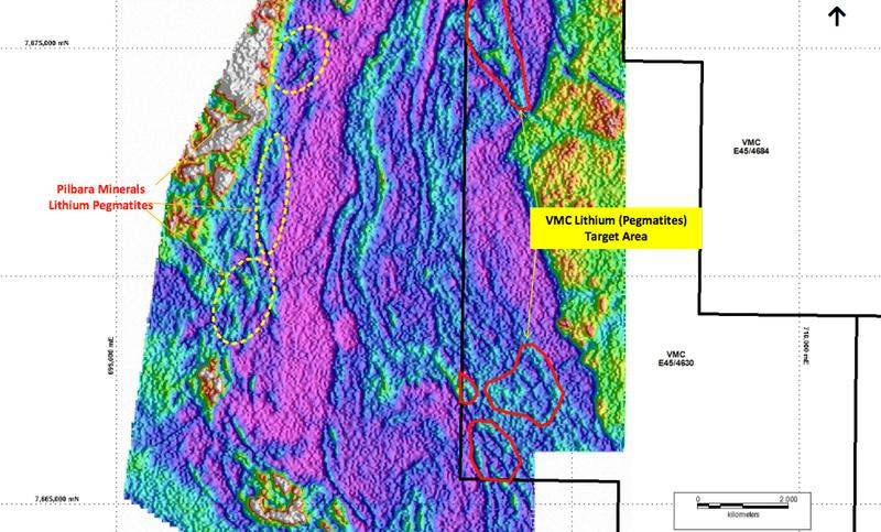 Pegmatite target areas