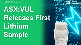 VUL Produces First Battery-Grade Lithium Sample