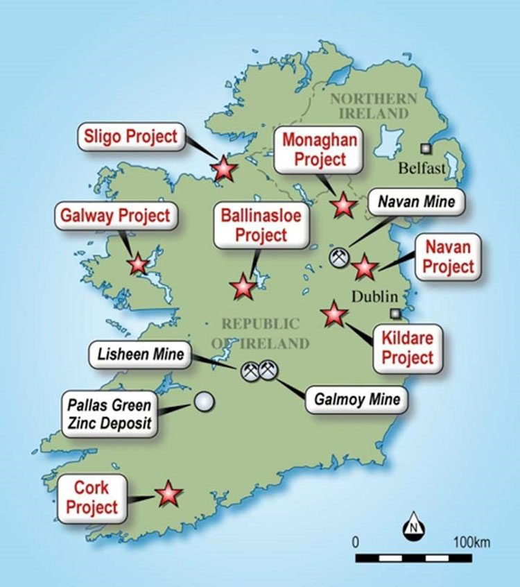 Zinc of Ireland projects