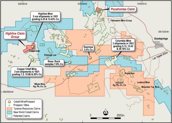 Location Plan Highline Copper–Cobalt Project.