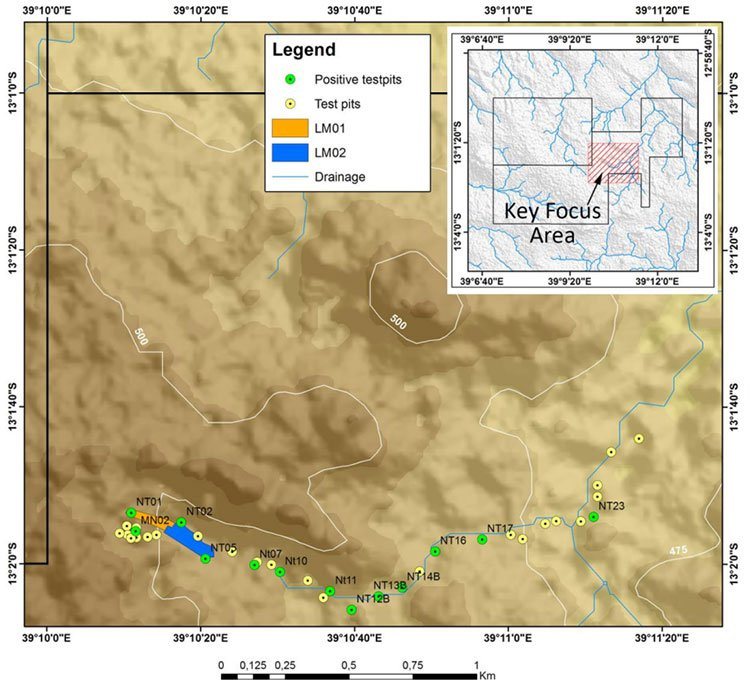 Mustang Resources sampling regions