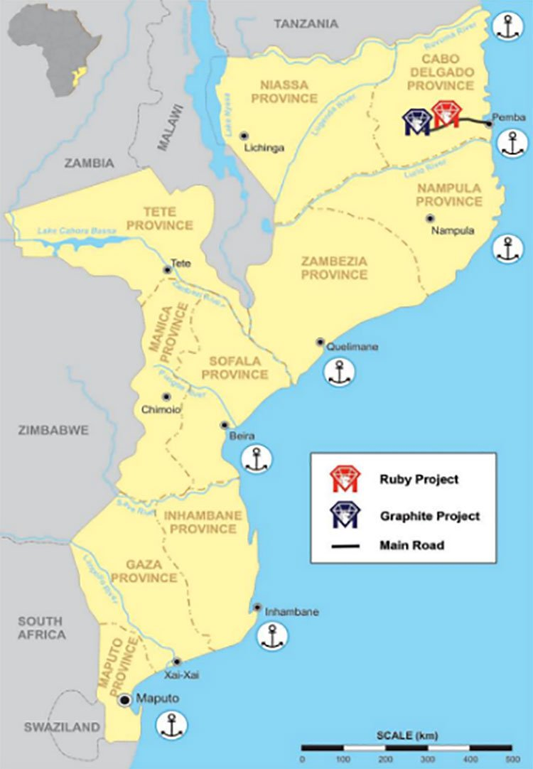 Mozambique Montepuez ruby project